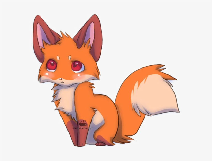 Baby Fox Png Free Download - Baby Fox Anime, transparent png #3042212