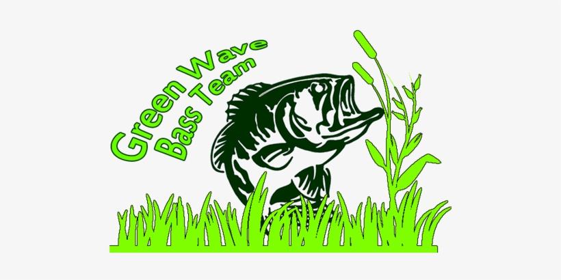 Green Wave Bass Team - Sticker Bass Pro Shops Black Bass Sticker Black Bass, transparent png #3042752