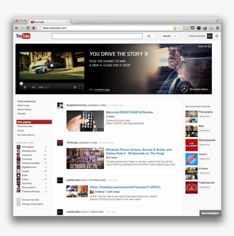 How To Get The New Youtube Layout/design - Nieuwe Youtube Layout, transparent png #3043094