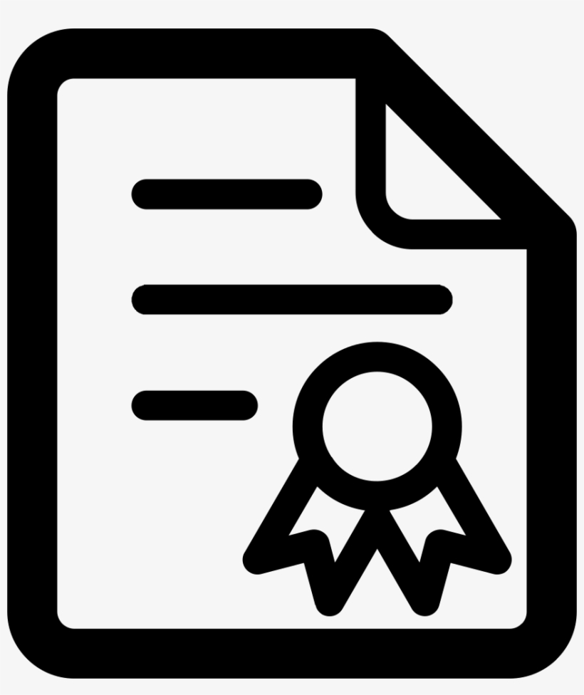 Certificate Free Icon - Download Certificate Icon Png, transparent png #3044523