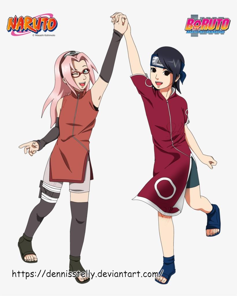 Sakura Haruno And Sarada Uchiha By Dennisstelly Naruto - Naruto Wall Stickers / Tattoo /graphics: Naruto King, transparent png #3044646