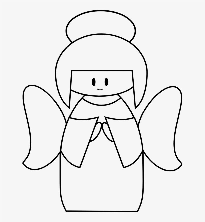 Black and White Angels Clipart   Angel Clipart