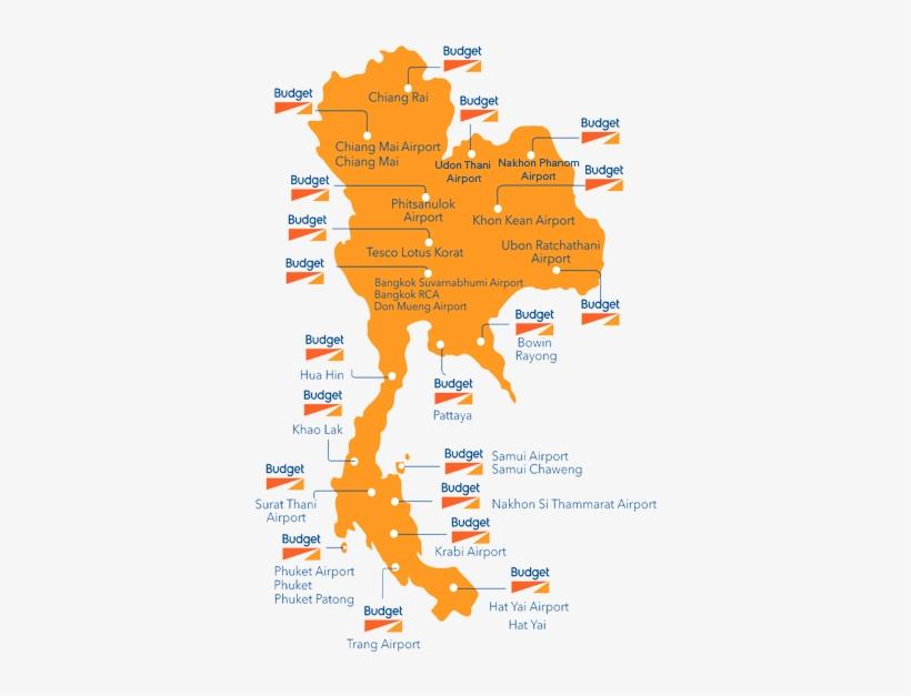 Budget Car Rental Thailand Airport In Thailand Map Free