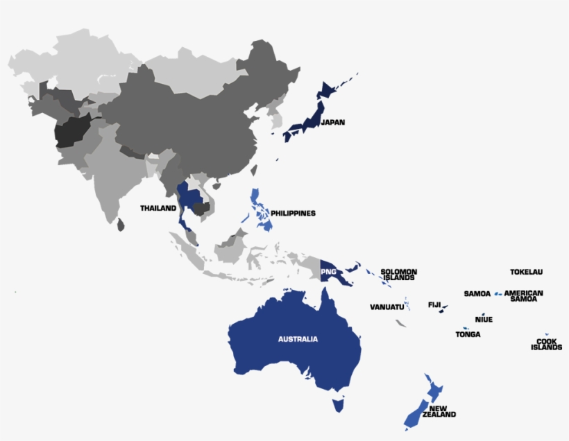 Map Of Asia Png.Member Nations Asia Pacific Map Vector Free Transparent Png