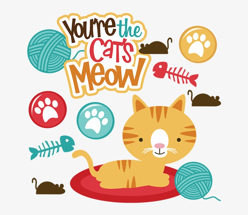 You're The Cats Meow Svg Scrapbook File Cat Svg Files - Miss Kate Cuttables Cats, transparent png #3046262
