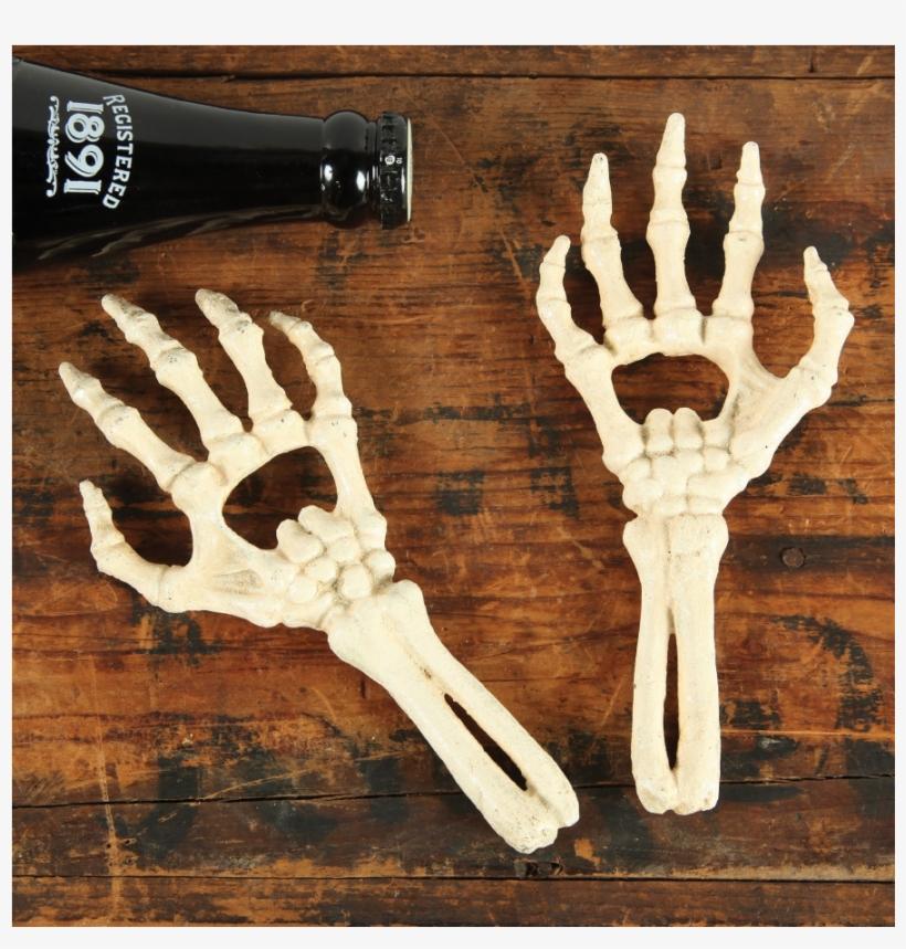 Skeleton Hands Bottle Openers - Homart Vintage Style Cast Iron Skeleton Hand Bottle, transparent png #3048484