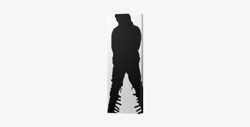 Silhouette Michael Jackson`s Move Canvas Print • Pixers® - Michael Jackson, transparent png #3048771