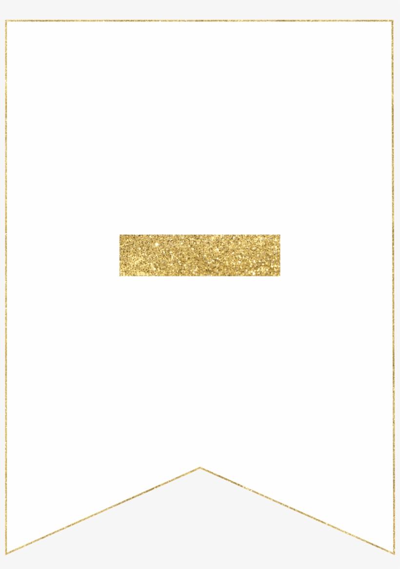 E Gold Alphabet Banner Letter - Printable Banner Gold Letter P, transparent png #3052731
