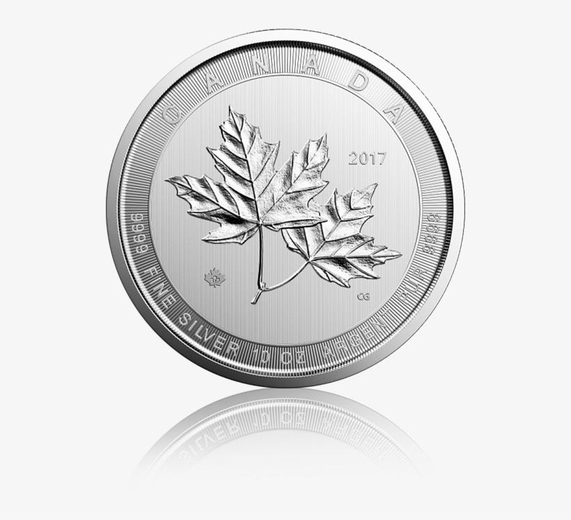 Magnificent Maple Leaf - 2017 10 Oz Canadian Silver Magnificent Maple Leaf, transparent png #3053161