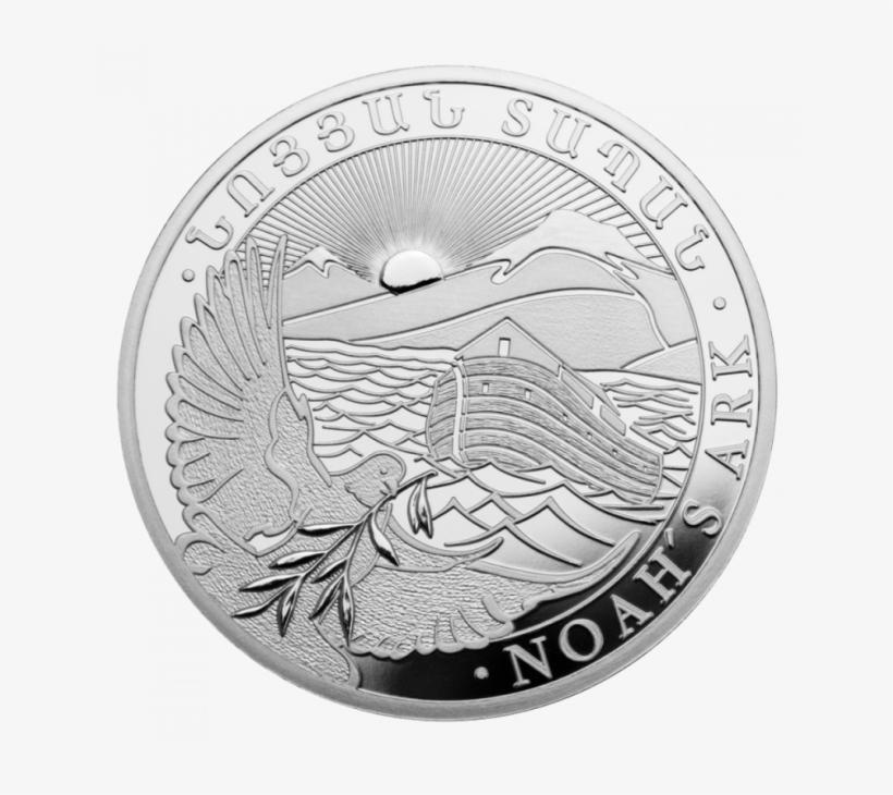 1/4 Oz Noah's Ark Silver Coin Front - Noah's Ark Silver Coins, transparent png #3053706