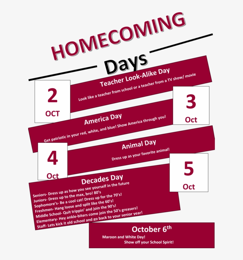 50s For Homecoming Dress Up Days, transparent png #3054344