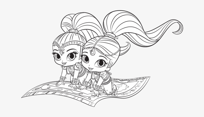 Shimmer And Shine 11 - Friv Free Coloring Pages For Children - Shimmer and Shine  Coloring Pages | 471x820