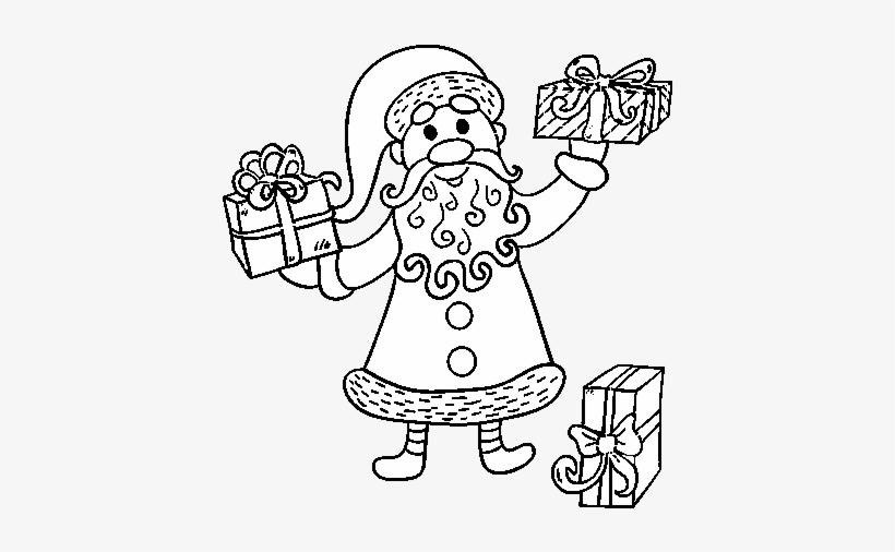 Desenho De Presentes De Papai Noel Para Colorir Drawing Free