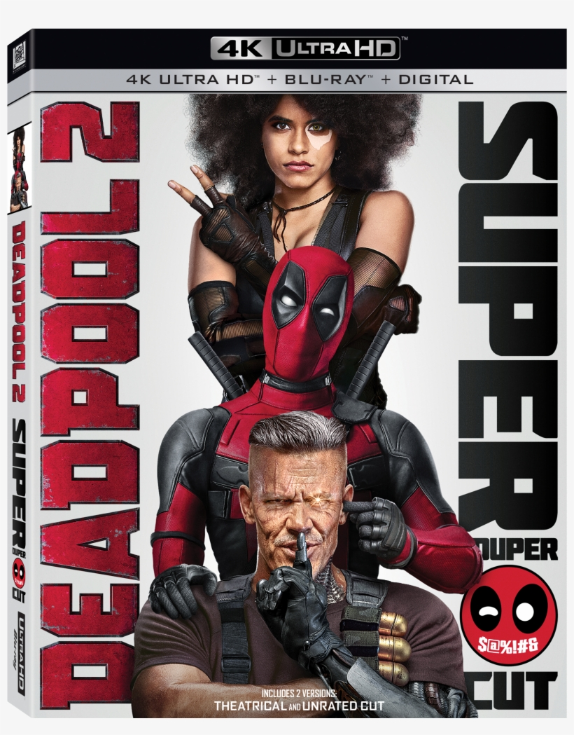 Deadpool 2 4k Ultra Hd Combo Pack Cover - Deadpool 2 4k Blu Ray, transparent png #3060392