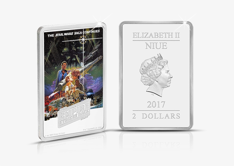 The Empire Strikes Back 1oz Silver Coin - 2017 Star Wars - The Empire Strikes Back 1oz Silver, transparent png #3065037