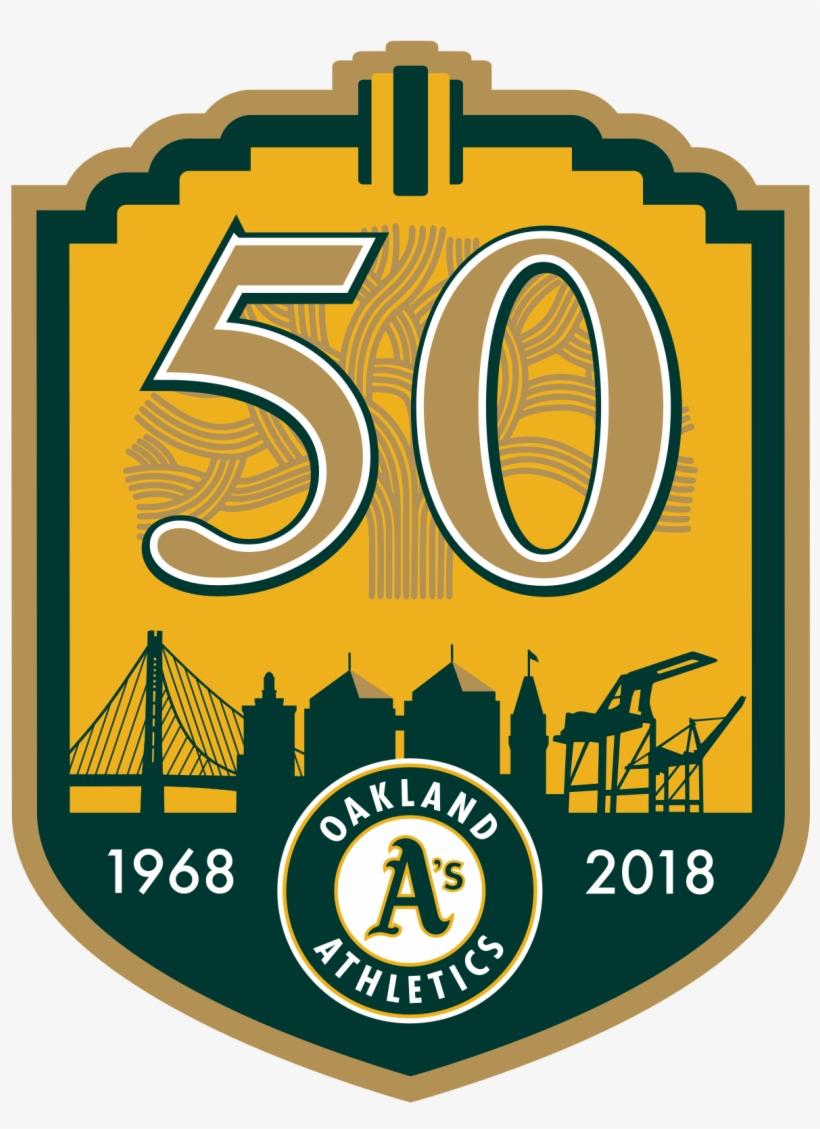Oakland Athletics 50th Anniversary, transparent png #3065733