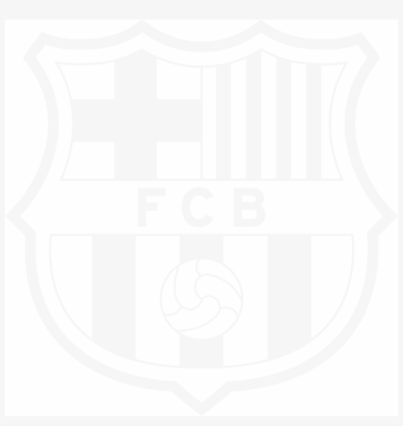 black and white fcb logo 6 by robert logo fc barcelona free transparent png download pngkey black and white fcb logo 6 by robert