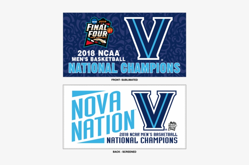 Villanova Wildcats 2018 Ncaa Men's Basketball National - Villanova National Champs 2018, transparent png #3068012