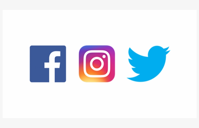 Logos For Instagram, Twitter, And Facebook - Facebook Instagram Twitter Logos Png, transparent png #3069107