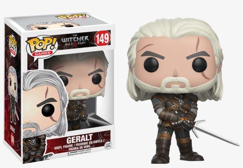 The Witcher - Witcher Geralt Pop! Vinyl Figure, transparent png #3070235
