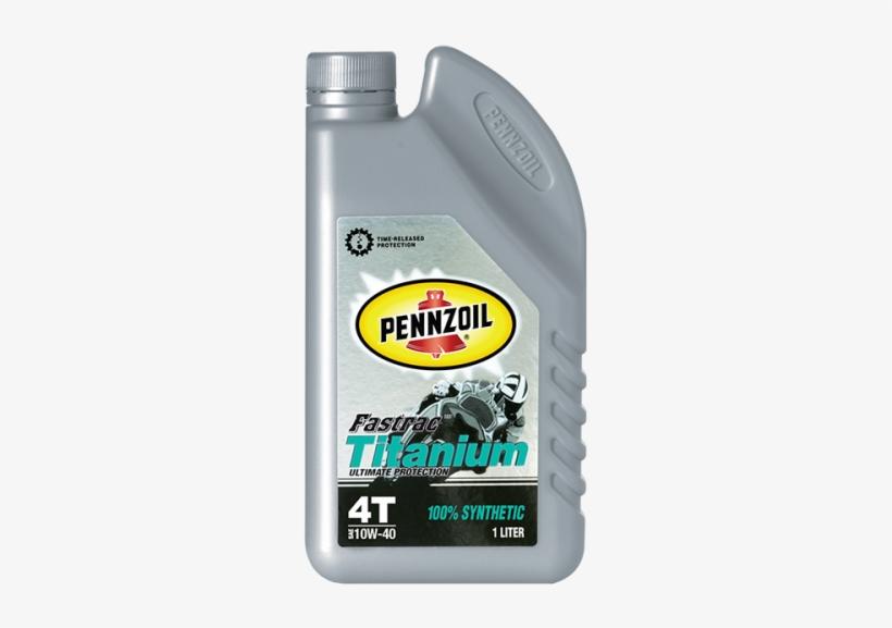 Pennzoil Fastrac Titanium 4t 100% Synthetic Sae 10w-40 - Pennzoil Sae Motor Oil, 10w-30 - 1 Qt Jug, transparent png #3070505