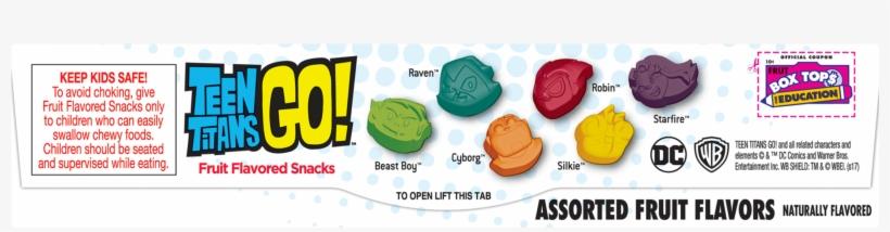 Betty Crocker Teen Titans Go Fruit Flavored Snacks, - Teen Titans Go Fruit Snacks, transparent png #3074268