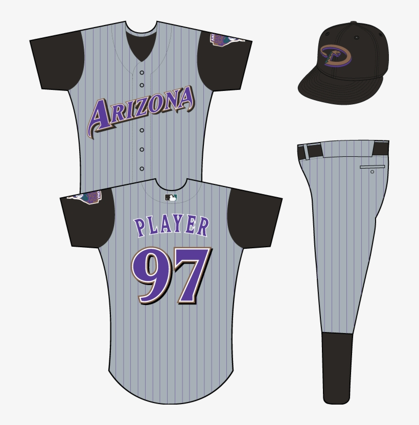 Arizona Diamondbacks - Los Angeles Dodgers Uniform, transparent png #3076115