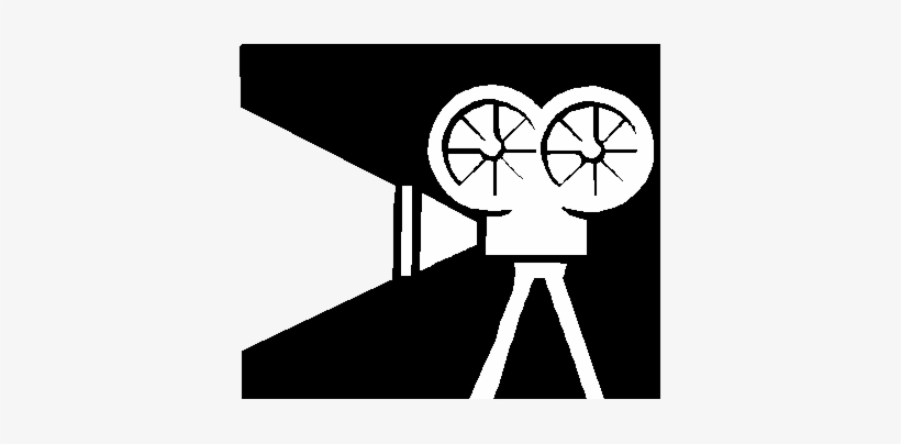 Video Camera Clipart Movie Screening - Video Camera White Png, transparent png #3076869