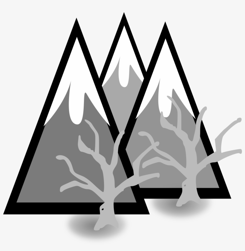 Clipart Library Library Clipart Mountains Black And - Snow Capped Mountain Clipart, transparent png #3077805