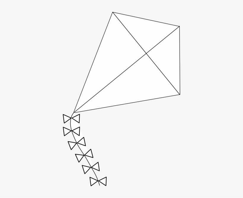 Kite Black And White Kite Clip Art At Vector Clip Art Outline Of A Kite Free Transparent Png Download Pngkey