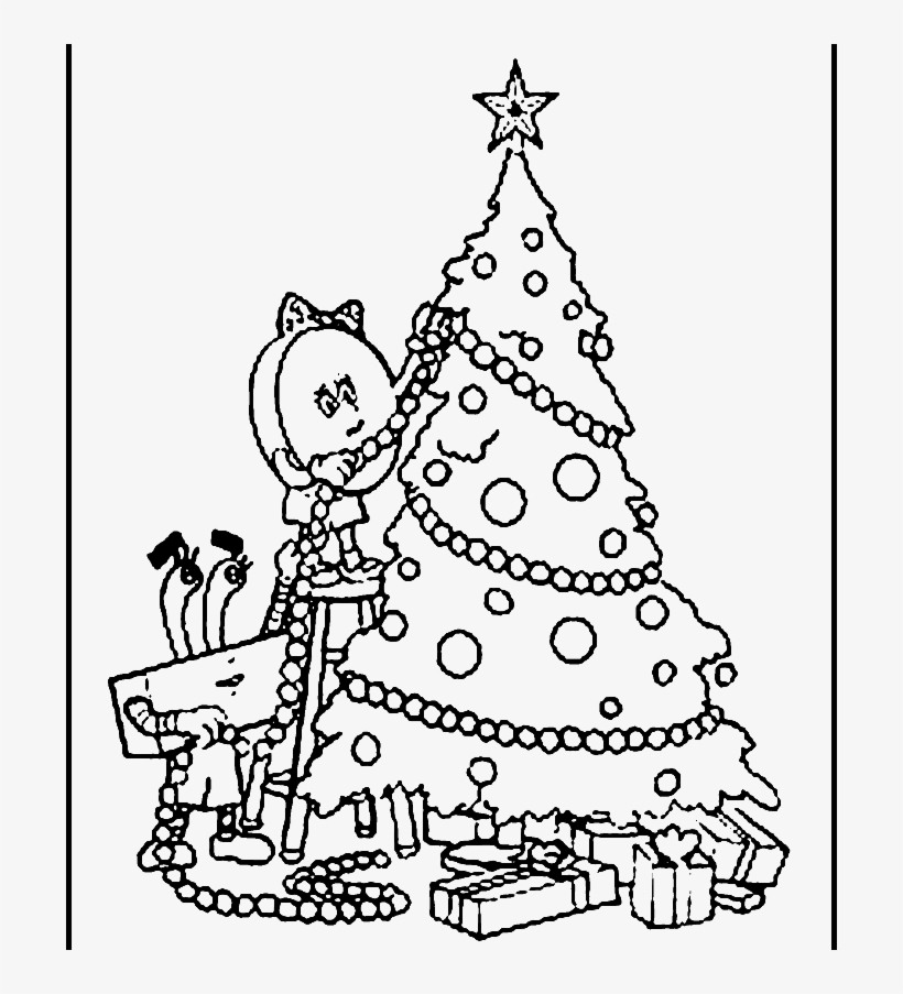Decorate The Christmas Tree So That Beautiful Coloring - Decorate Christmas Tree Drawing, transparent png #3079540