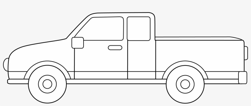 Profile Clipart Pickup Truck - Pickup Truck Clipart Black And White, transparent png #3079855