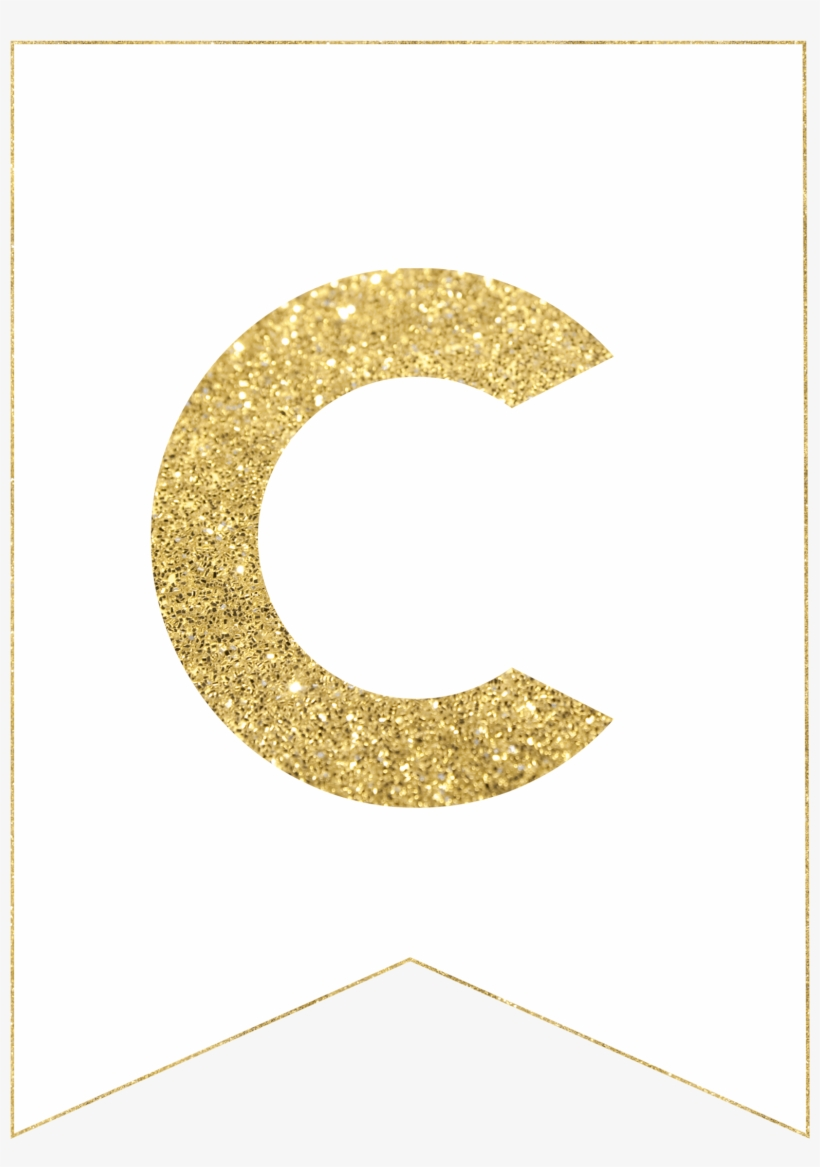 Click The Following Links To Print The Gold Free Printable - Free Printable Gold Letters, transparent png #3084185