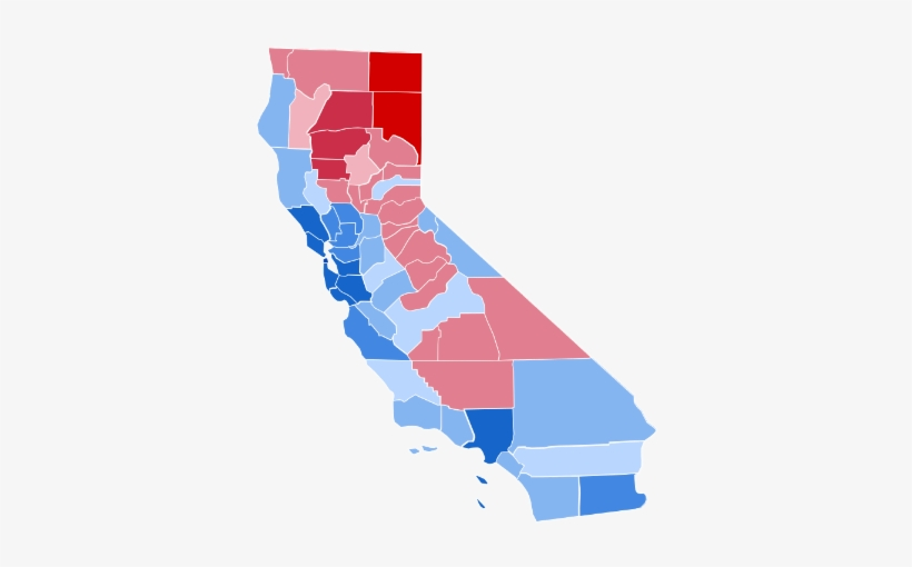 Has The California Backlash Against Liberal Craziness - California 2016 Election Results By County, transparent png #3085768