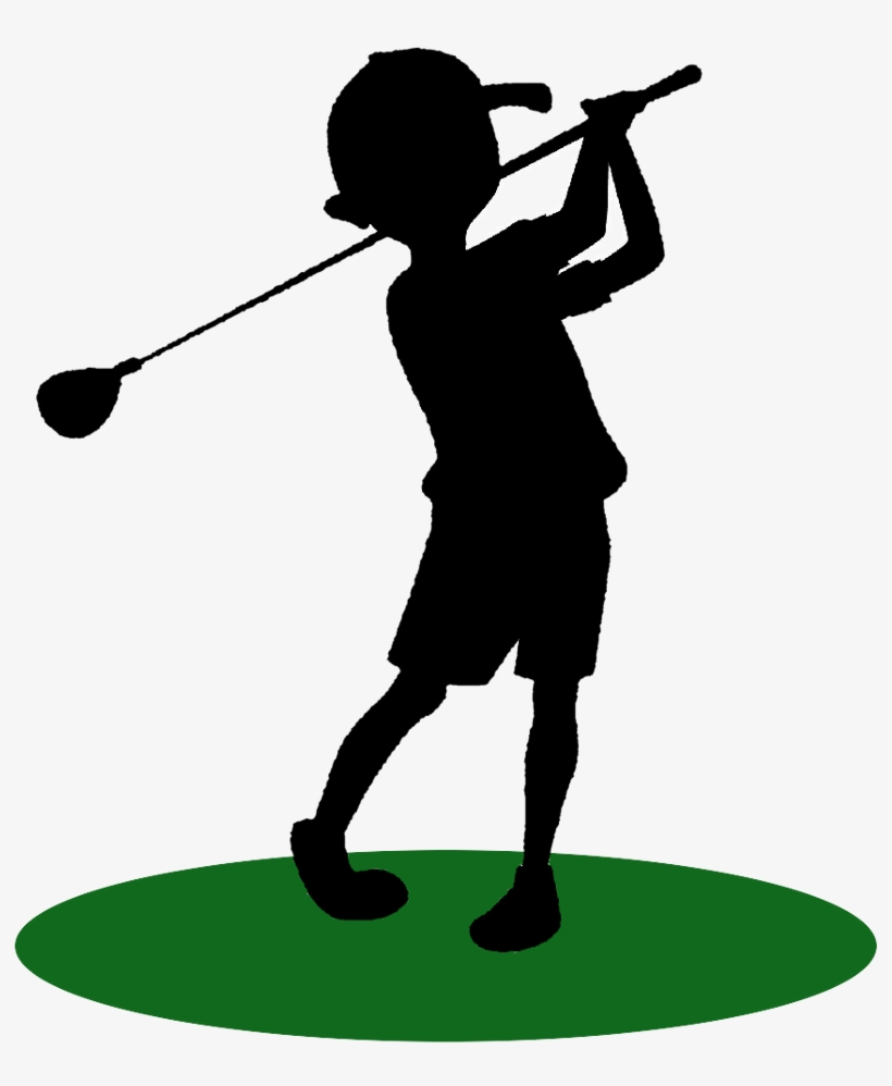 See Here Golf Clip Art Free Downloads - Kid Golfer Silhouette, transparent png #3087032