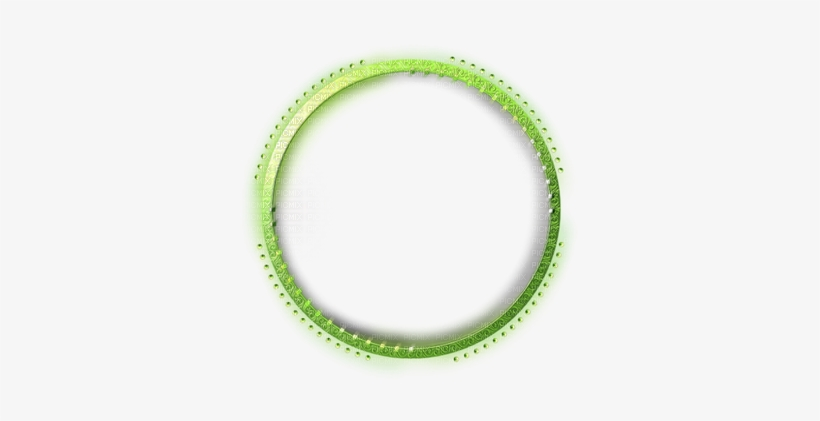 Frame Round Green - Diamond Round Frame Png, transparent png #3090000
