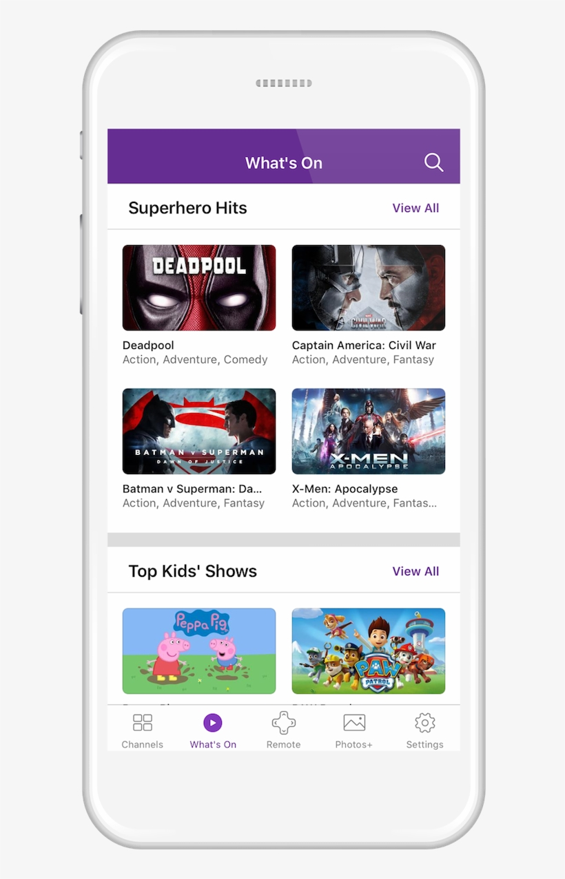 Roku Mobile App Ios Android Whats On - Roku App Screen Iphone, transparent png #3092778