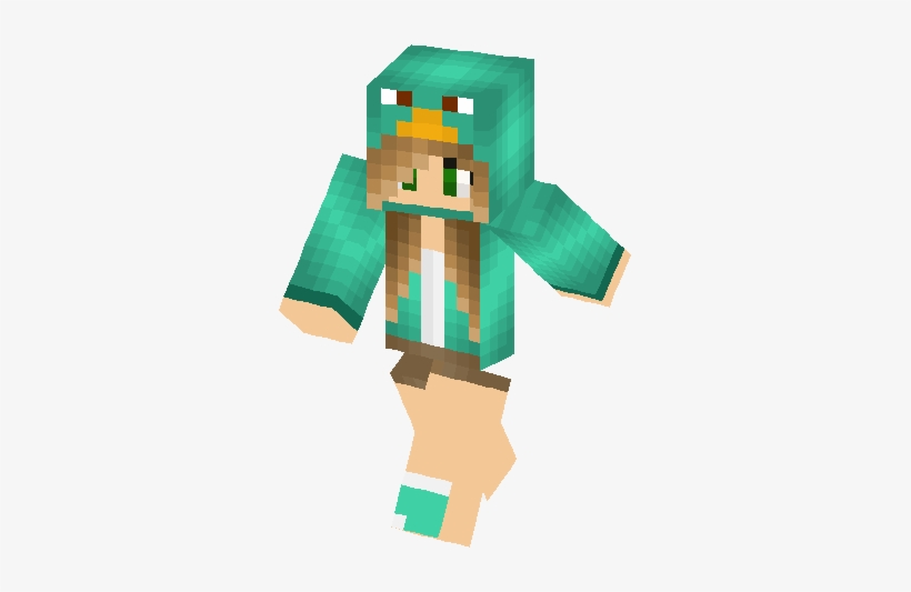 Perry Girl Skin - Green Minecraft Skin Girl, transparent png #3093160