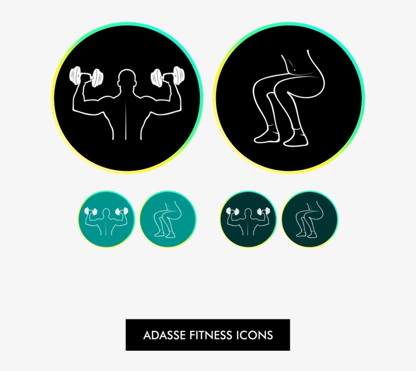 Create 2 Fitness Icons For A New Mobile App - Graphic Design, transparent png #3093451