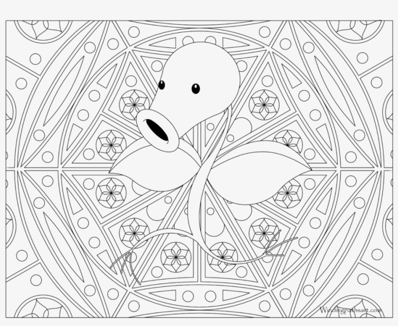 - Adult Pokemon Coloring Page Bellsprout - Pokemon Hard Coloring Pages - Free  Transparent PNG Download - PNGkey