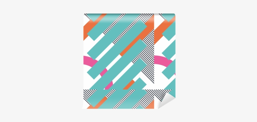 Abstract Retro 80s Background With Geometric Shapes