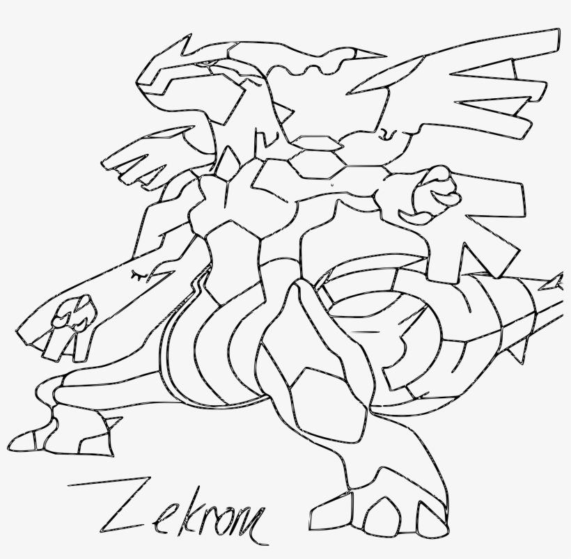 Coloring Pages Pokemon Zekrom Evolution Dessin A Imprimer