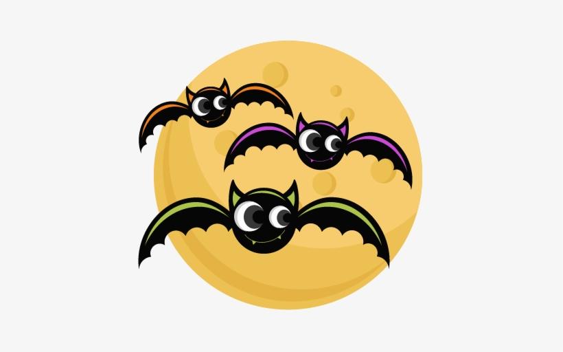 Bats With Moon Svg Cutting Files Bat Svg Cut File Halloween - Cute Halloween Bat Png, transparent png #310899