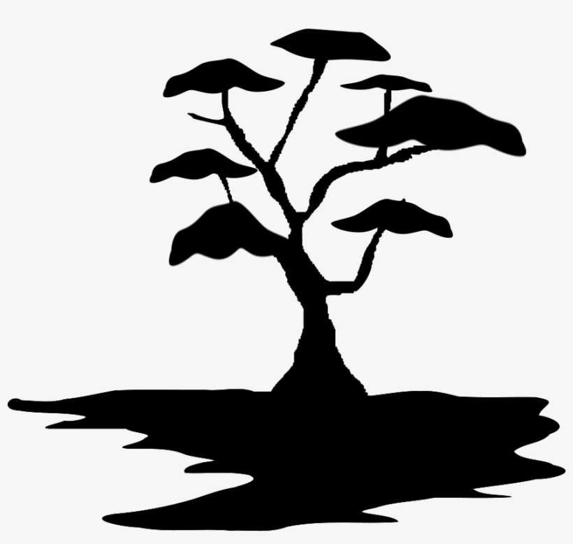 Rpg Map Symbols - Clipart Silhouette Bonsai Tree, transparent png #311981