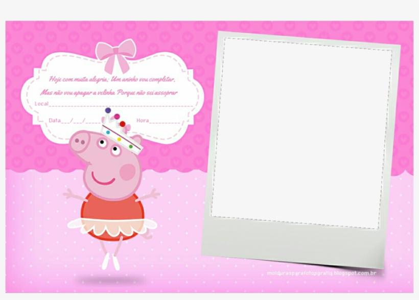 Moldura Peppa Pig Png Clipart Daddy Pig Picture Frames - Moldura Para Foto Peppa Pig, transparent png #312003