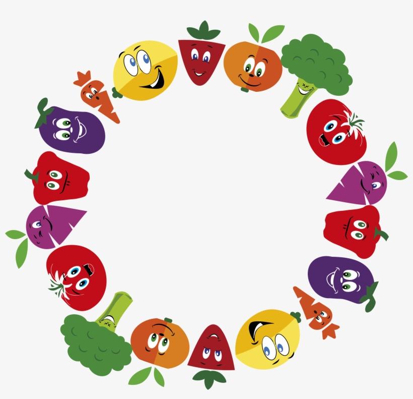 Fruits And Vegetables Clipart Border - Vegetables And Fruits Frame, transparent png #312151