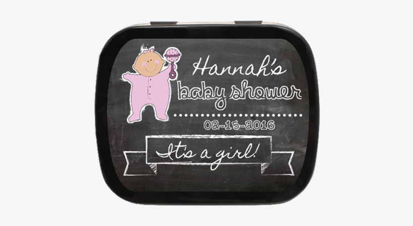 Illustrated Baby Chalkboard Personalized Baby Shower - Personalized Baby Shower Mint Tins, transparent png #312752