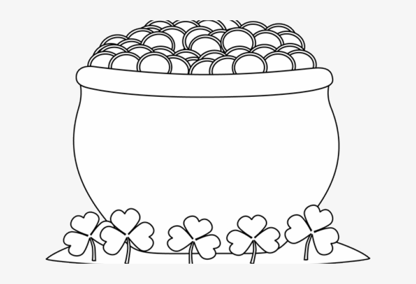 Black And White Pot Of Gold Clipart, transparent png #313041