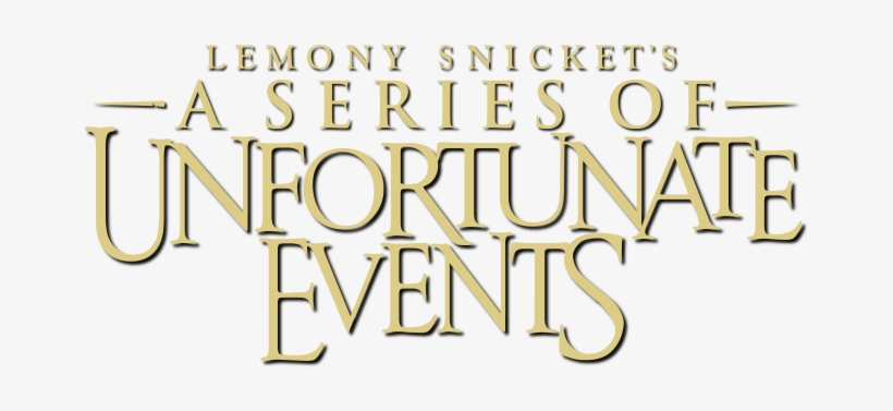 Netflix's A Series Of Unfortunate Events Announces - Series Of Unfortunate Events Logo, transparent png #313129