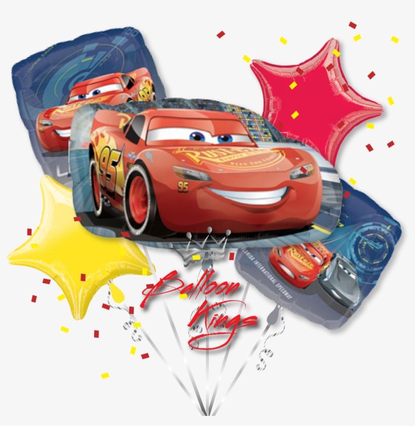 Lightning Mcqueen Bouquet Balloon Kings - Cars 3 Lightning Mcqueen Shape Foil Balloon, transparent png #314802